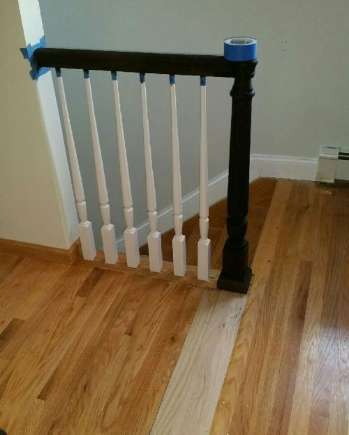 new bannister installed