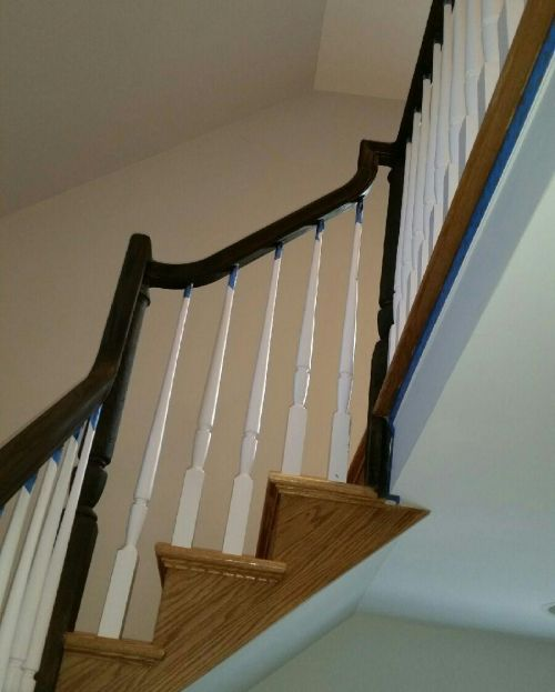 New Staircase Bannister on Long Island