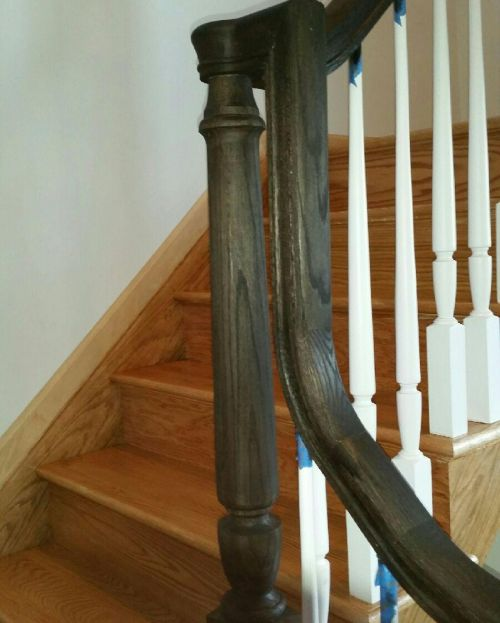 Staircase Bannister on Long Island