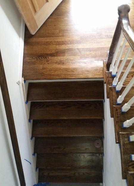 wood stair top photo